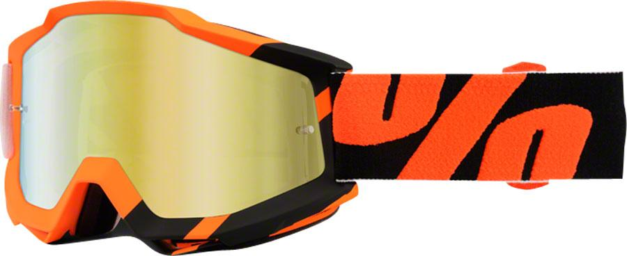 100% Accuri Wildblast 2016 Snow Goggles Black Orange Mirror Gold Lens by 100%