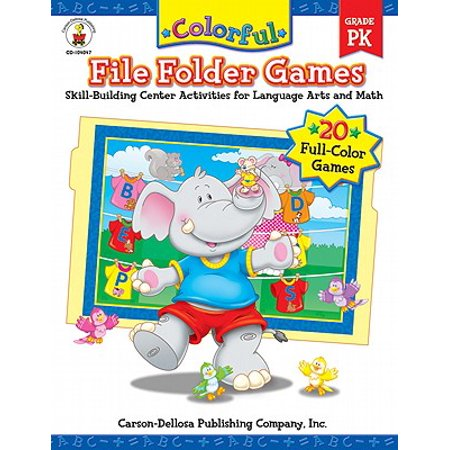 Colorful File Folder Games, Grade PK : Skill-Building Center Activities for Language Arts and Math](Folder Games)