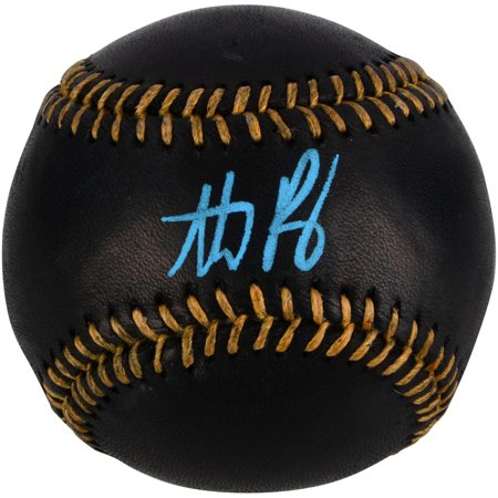 Anthony Rizzo Chicago Cubs Autographed Black Leather Baseball with Blue Ink - Fanatics Authentic Certified