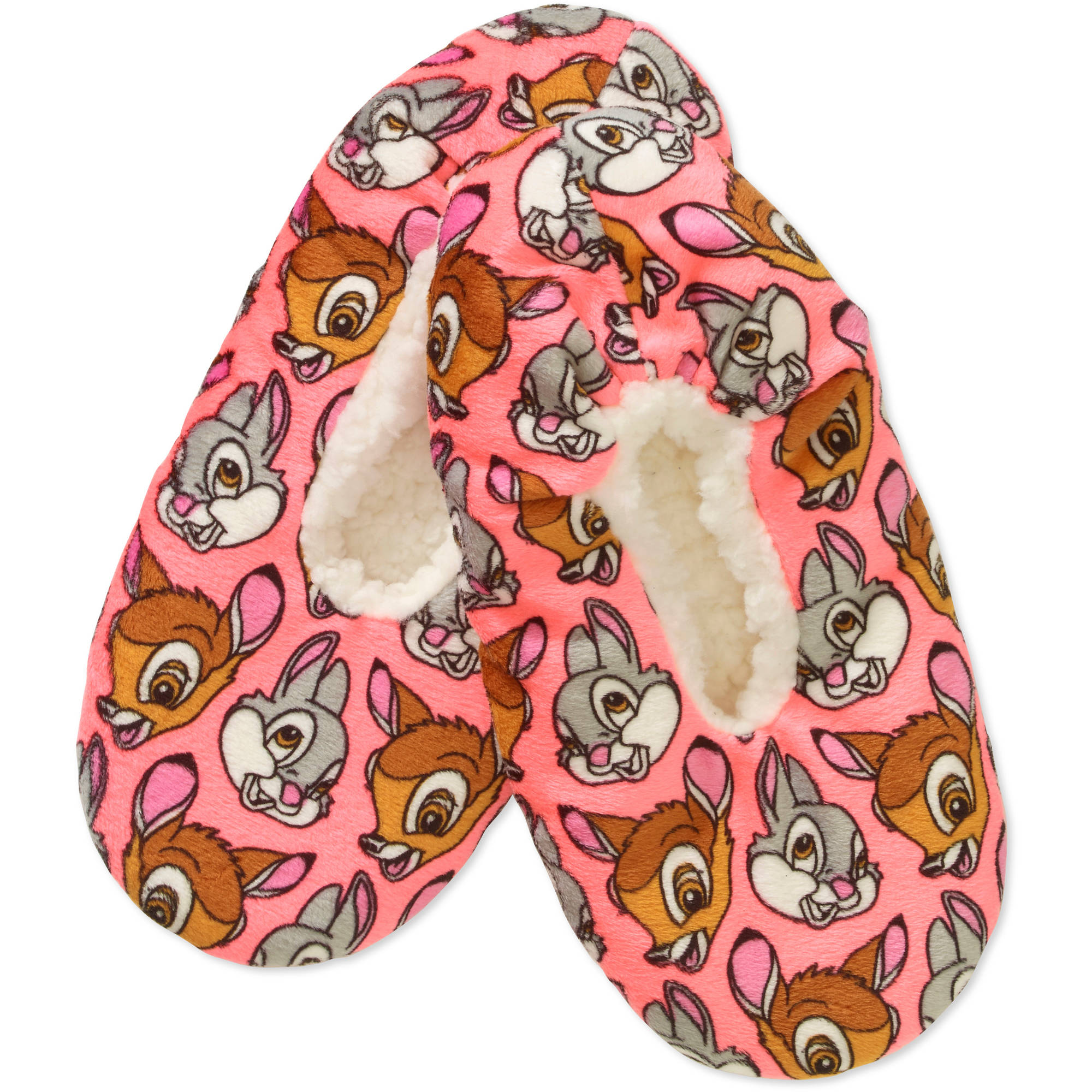 Silky Suede Fuzzy Babba Disney's Bambi & Thumper Printed Slipper Socks