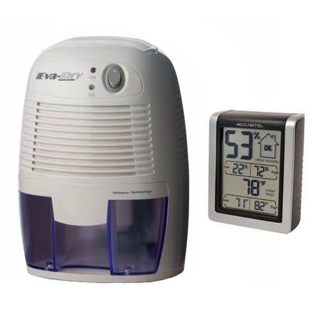 Eva-dry Edv-1100 Electric Petite Dehumidifier + Indoor Humidity Monitor