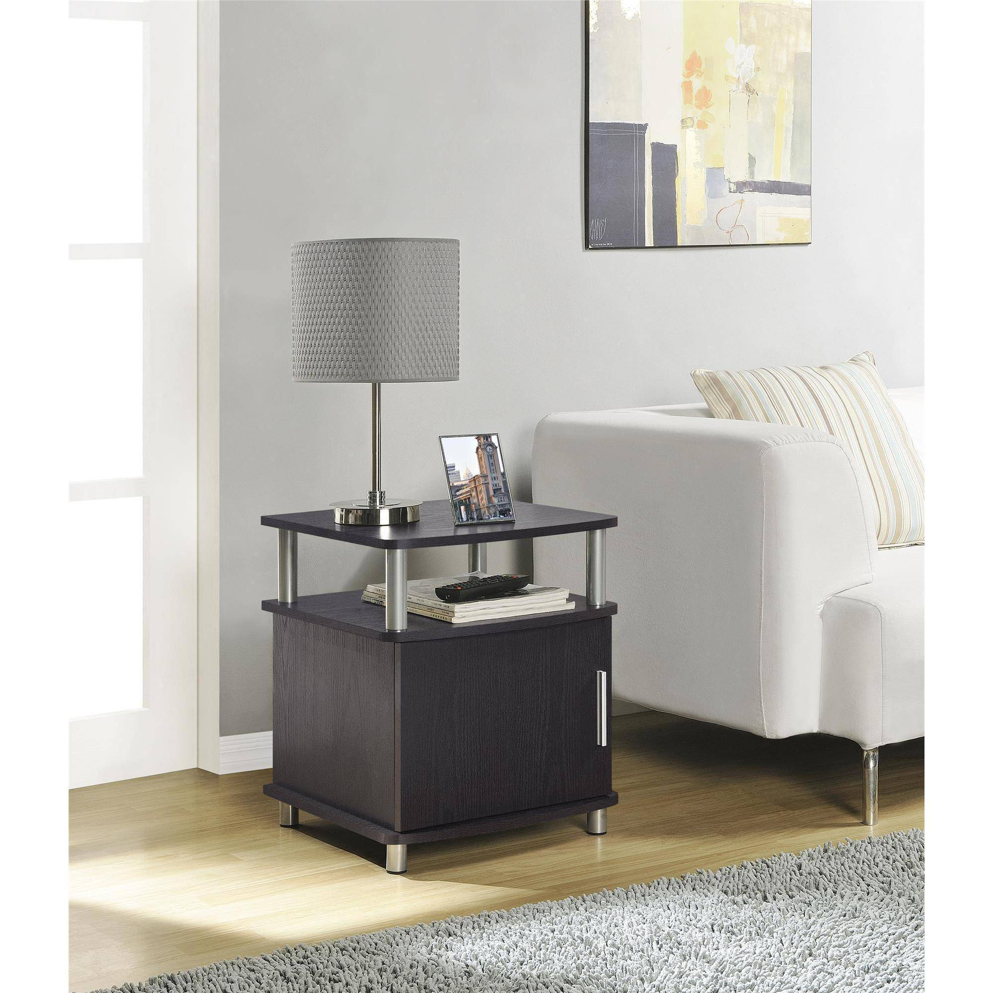 Ameriwood Home Carson End Table With Storage Espresso