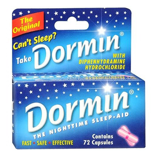 Dormin Original Night Time Sleep Aid Capsules - 72 Ea