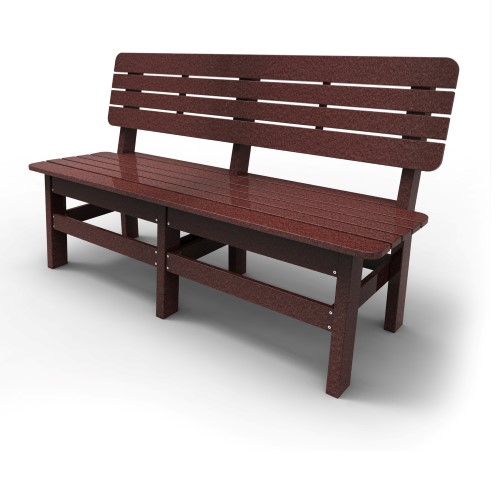 Country Bench by Malibu Outdoor, Cherry - 60''
