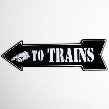 To Trains Arrow Vintage Style Train Sign Model Railroad/Hobby Room Wall Decor](Train Decor)