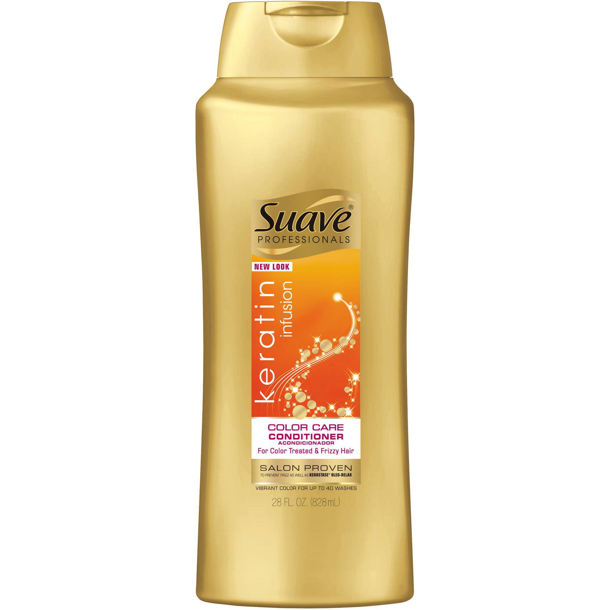 Suave Professionals Keratin Infusion Color Care Conditioner, 28 fl oz