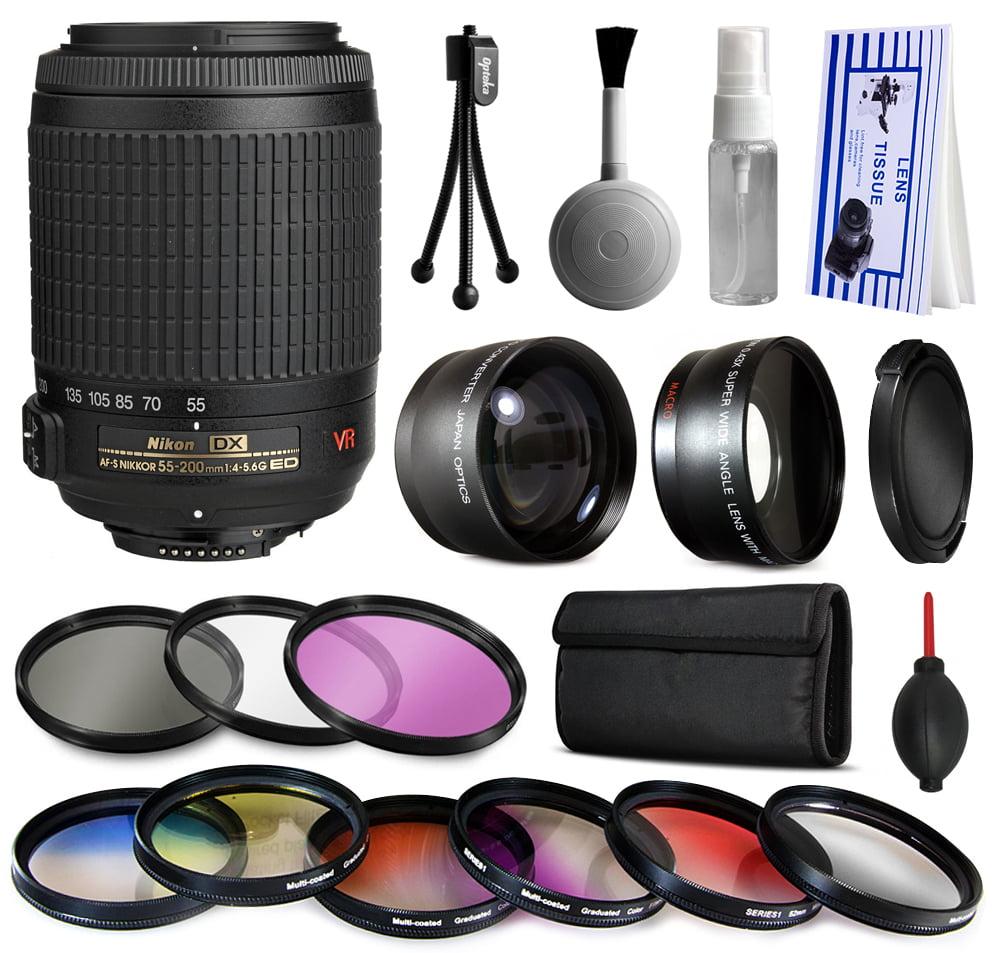 Nikon VR 55-200mm Lens 2166 + Premium Accessories Kit inc...