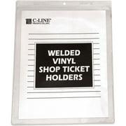 "C-Line Clear Vinyl Shop Ticket Holder, Both Sides Clear, 50"", 9 x 12, 50/BX"