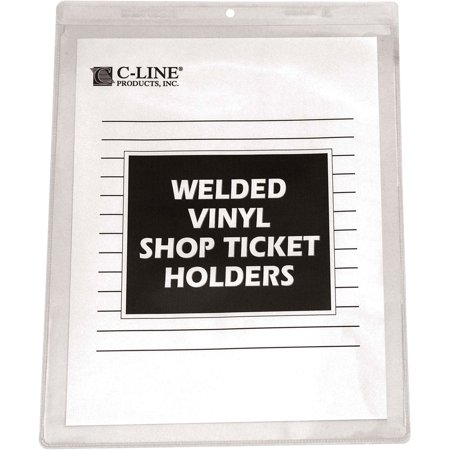 C-Line Clear Vinyl Shop Ticket Holder, Both Sides Clear, 50