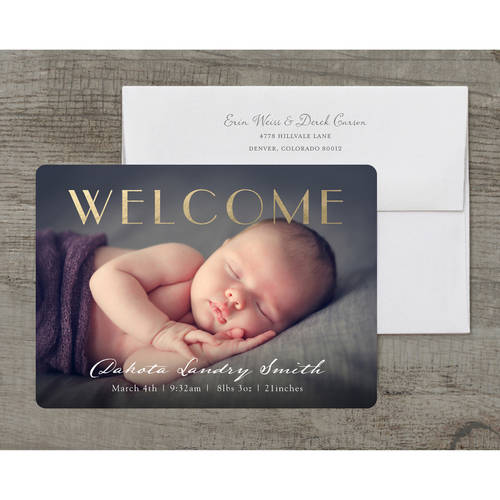 Welcome Baby Deluxe Baby Announcement