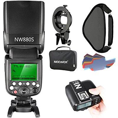 Neewer 2.4g wireless 1/8000 hss ttl master/slave flash sp...