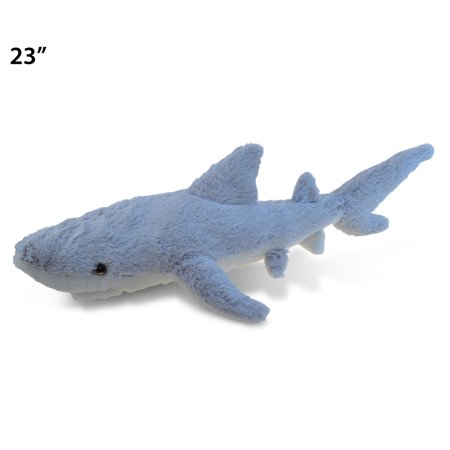 "Stuff For Birthday Party (Puzzled Shark Plush, 23"" Adorable, Super Fluffy, Huggable, Decorative, Excellent Gift, Party Favors, Props, Giveaways, Surprise Bag Items for Kids, Children, Toddler Stuffed Animals Toys & Games,)"