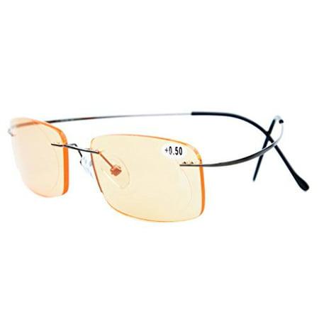 Eyekepper Titanium Rimless Computer Glasses Readers Men ...