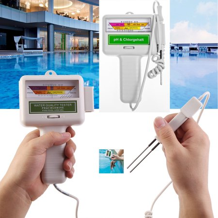 Swimming Pool Water Quality Tester PH/CL2 Chlorine Tester (Grey)
