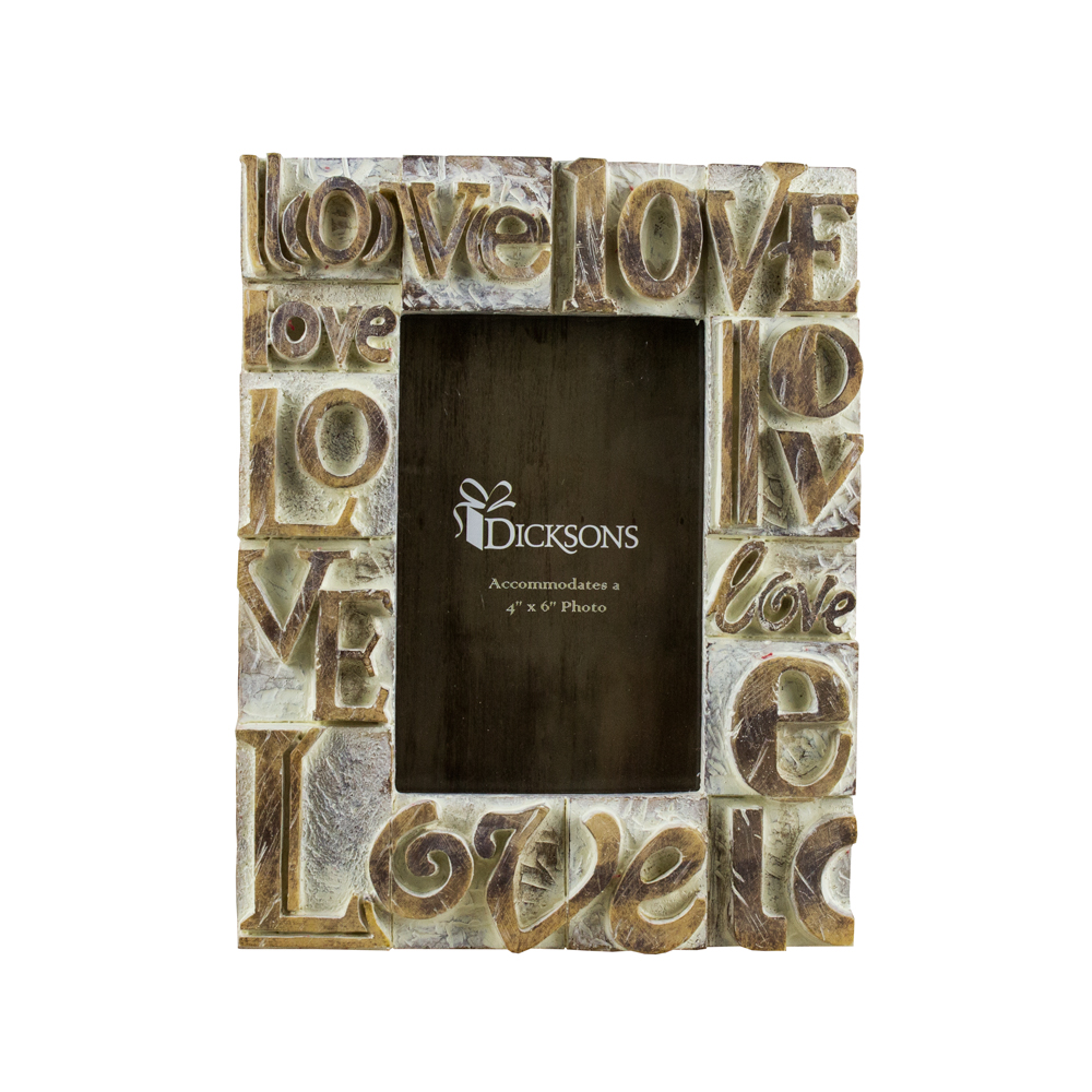 "Dicksons Love Resin Photo 4"" x 6"" Frame"