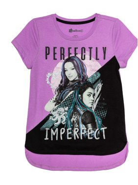Disney Descendants Perfectly Imperfect Glitter Graphic T-Shirt (Little Girls & Big Girls)