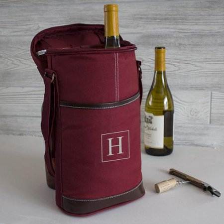 personalized red wine bottle cooler with opener. Black Bedroom Furniture Sets. Home Design Ideas
