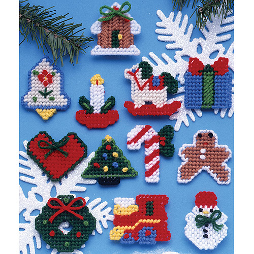 Country Christmas Ornaments Plastic Canvas Kit, 7-Count