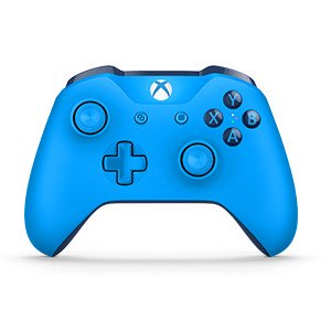 Microsoft Xbox One Bluetooth Wireless Controller, Blue, WL3-00018