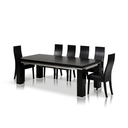 Orren Ellis Clower Black Extendable Dining Table ()