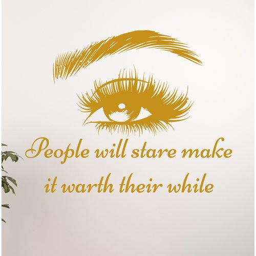 Harriet Bee Eye Cosmetic Make Up Art Wall Decal