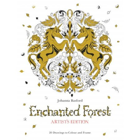Enchanted Forest Artists Edition 20 Drawings To Color
