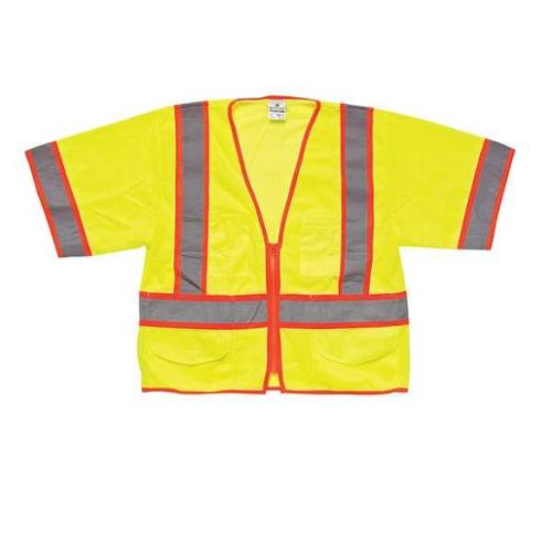 ML KISHIGO 1242-5X High Visibility Vest, Class 3, 5XL, Lime