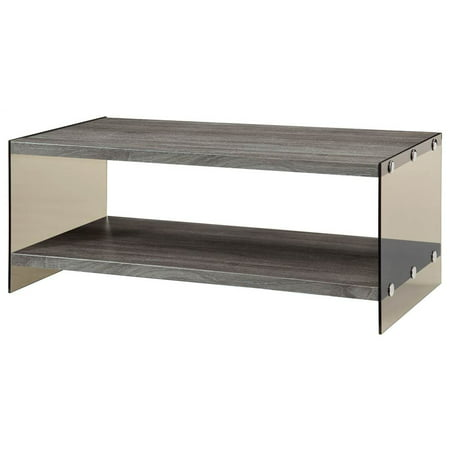 Coffee Table In Weathered Gray Finish