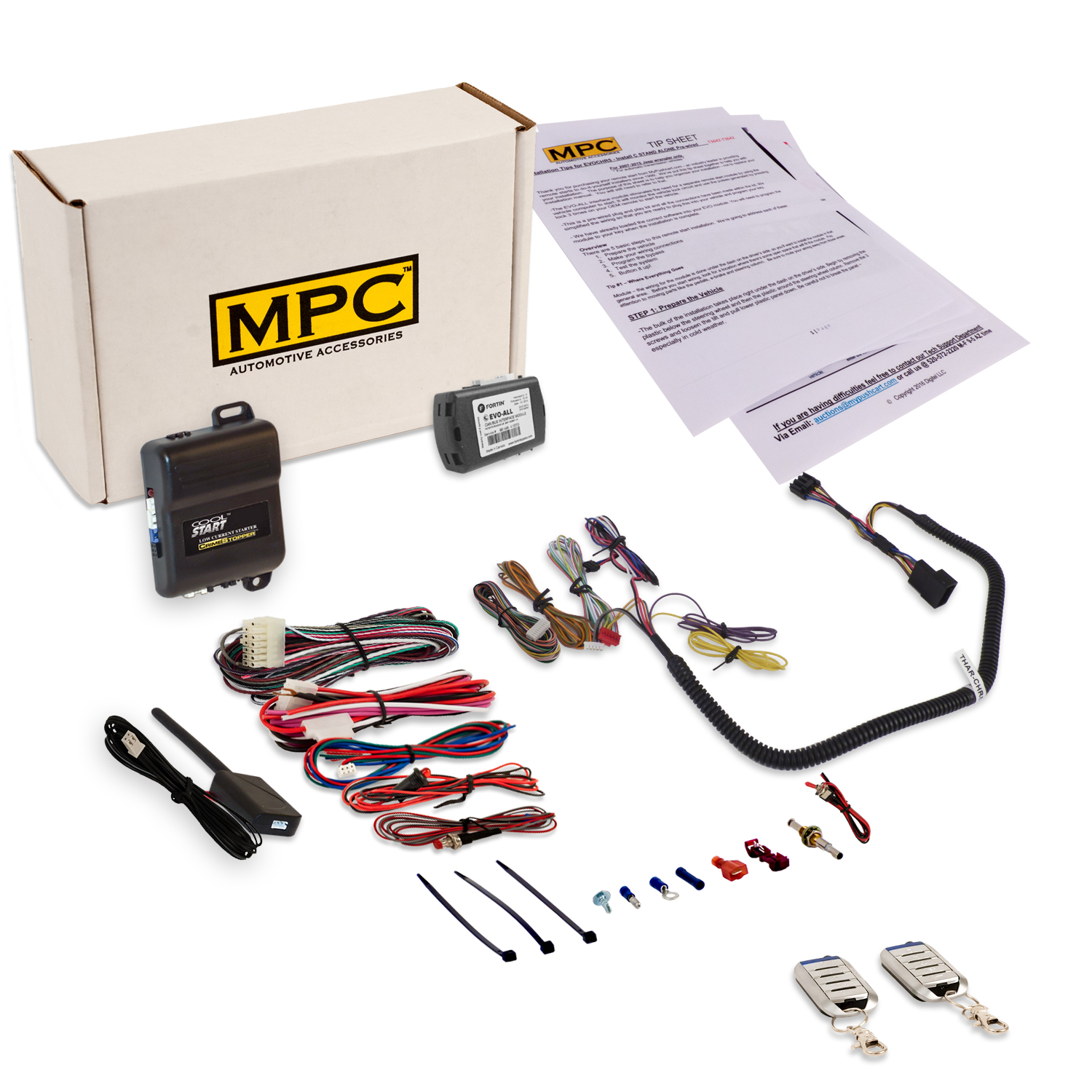 MPC Complete Remote Start w/ Keyless Entry Fits Chrysler,...