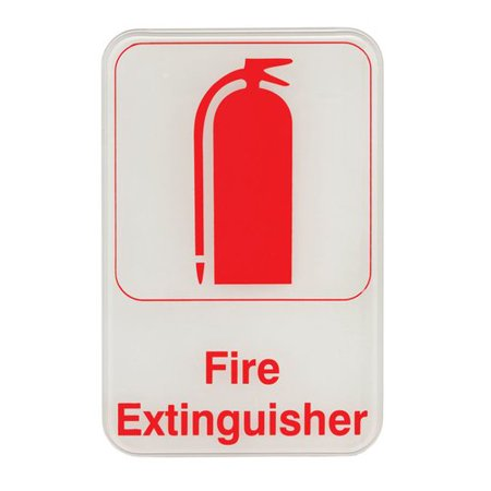 Update International Self Adhesive Fire Extinguisher Sign
