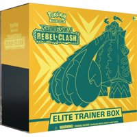 Pokmon TCG: Sword & Shield 2Rebel Clash Elite Trainer Box- 8 Booster Packs | 45 Energy Cards | 6 Dice|