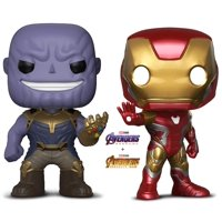 Warp Gadgets Bundle - Funko Pop Marvel Avengers: Endgame - Iron Man Box Lunch Exclusive and Infinity War - Thanos - Collectible Vinyl Bobble-Head Figures (2 Items)
