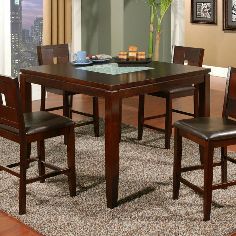 Alpine Furniture Lakeport Counter Height Pub Chairs Espresso Set of 2 by Alpine Furniture Inc