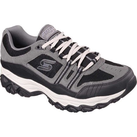 50124 Charcoal EWW 4E Wide Width Skechers Shoes Men New Memory Foam Sport Train