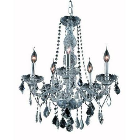 UPC 842814130494 product image for Elegant Lighting Value Verona 5LT Silver Shade Chandelier - V7855D21SS-SS/SS | upcitemdb.com