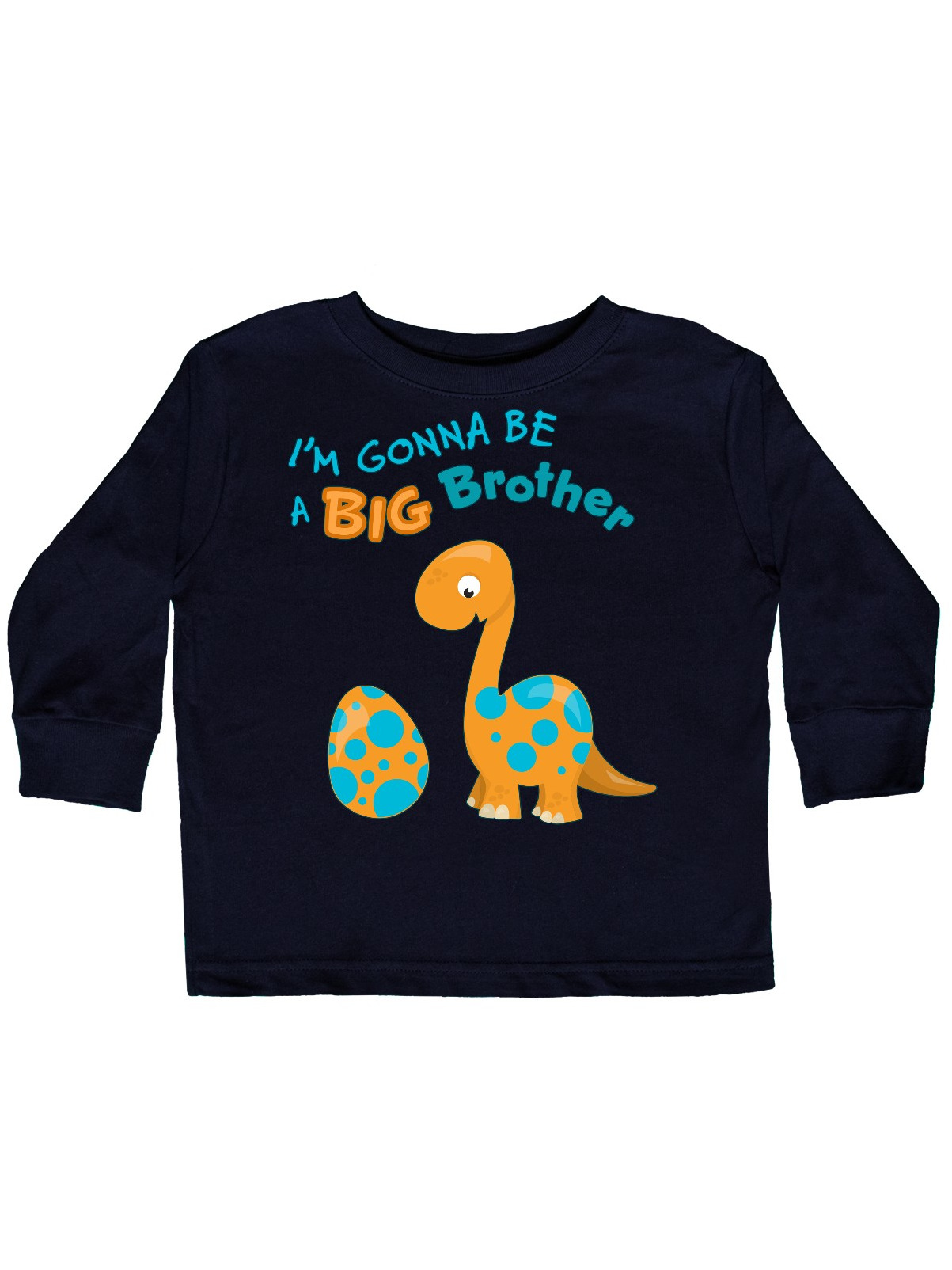 I'm Gonna Be A Big Brother-dino Toddler Long Sleeve T-Shirt