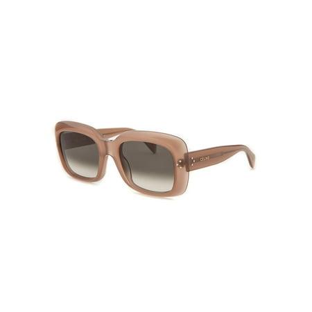 Celine-Cl41044-Gkyxm-53-Womens-Butterfly-Translucent-Light-Brown-Sunglasses