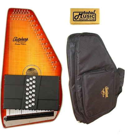 Sunburst Flame Maple Top (Oscar Schmidt Honey Sunburst 21 Chord Autoharp, Gig Bag, Flame Maple, OS11021FHS, OS11021FHS-AC445)