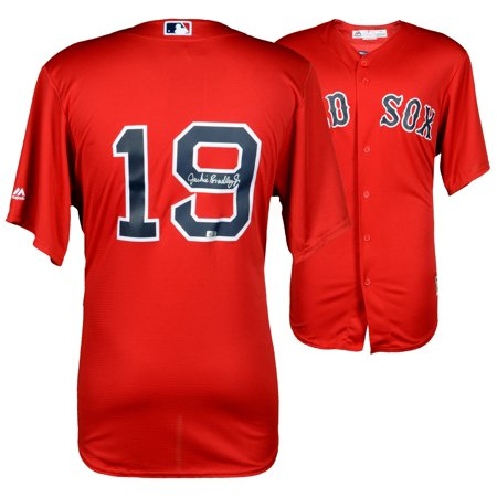 Jackie Bradley Jr Boston Red Sox Fanatics Authentic Autographed Majestic Red Replica Jersey - No Size (Autographed Red Sox)