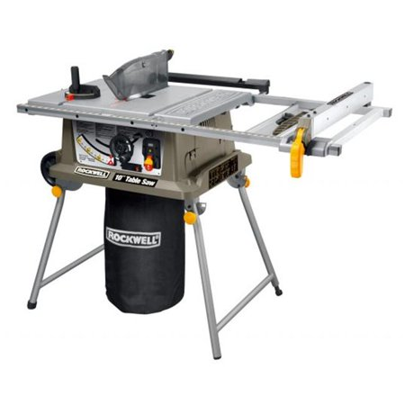 Rockwell Rk7241S 15 Amp 10-Inch Table Saw With Laser Guide Radial Arm Saw Table