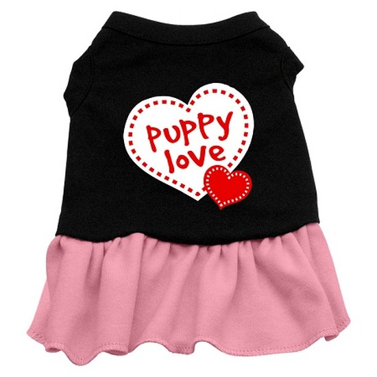 Puppy Love Dresses Black with Red Med (12)