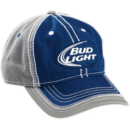 0d0e26367f412 Budweiser - Men s Bud Light Adjustable Baseball Cap - Walmart.com