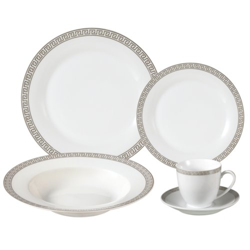 Lorren Home Trends Gaskins Porcelain 24 Piece Dinnerware Set Service for 4  sc 1 st  Walmart.com & Lorren Home Trends Gaskins Porcelain 24 Piece Dinnerware Set ...