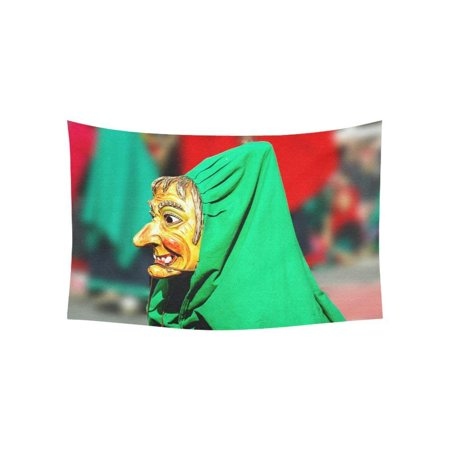 CADecor Wall Hanging Mask of Witch Green Cloak Wall Tapestry Dorm Art 40x60 inches](Witches Cloak)