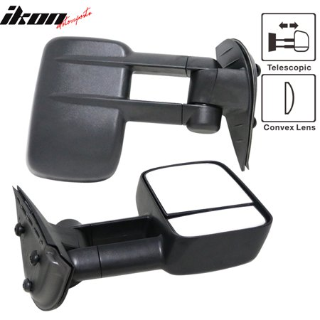 Fits 07-14 Silverado GMC Sierra Side View Towing Mirrors Manual Non-Heated Set