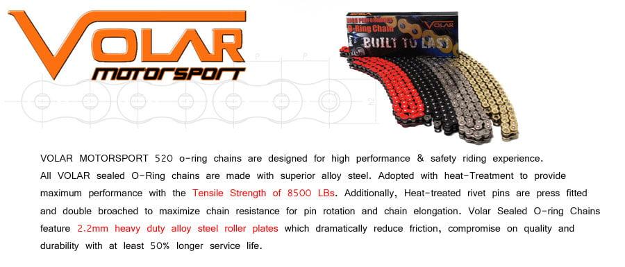 1994-1999 Polaris Sport 400 400L Heavy Duty Non Oring Chain Orange