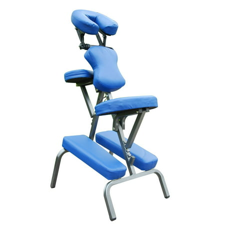 Professional Portable Massage Chair 3-Inch Foam Luxury Faux Leather with Carry Bag Blue - image 1 of 7