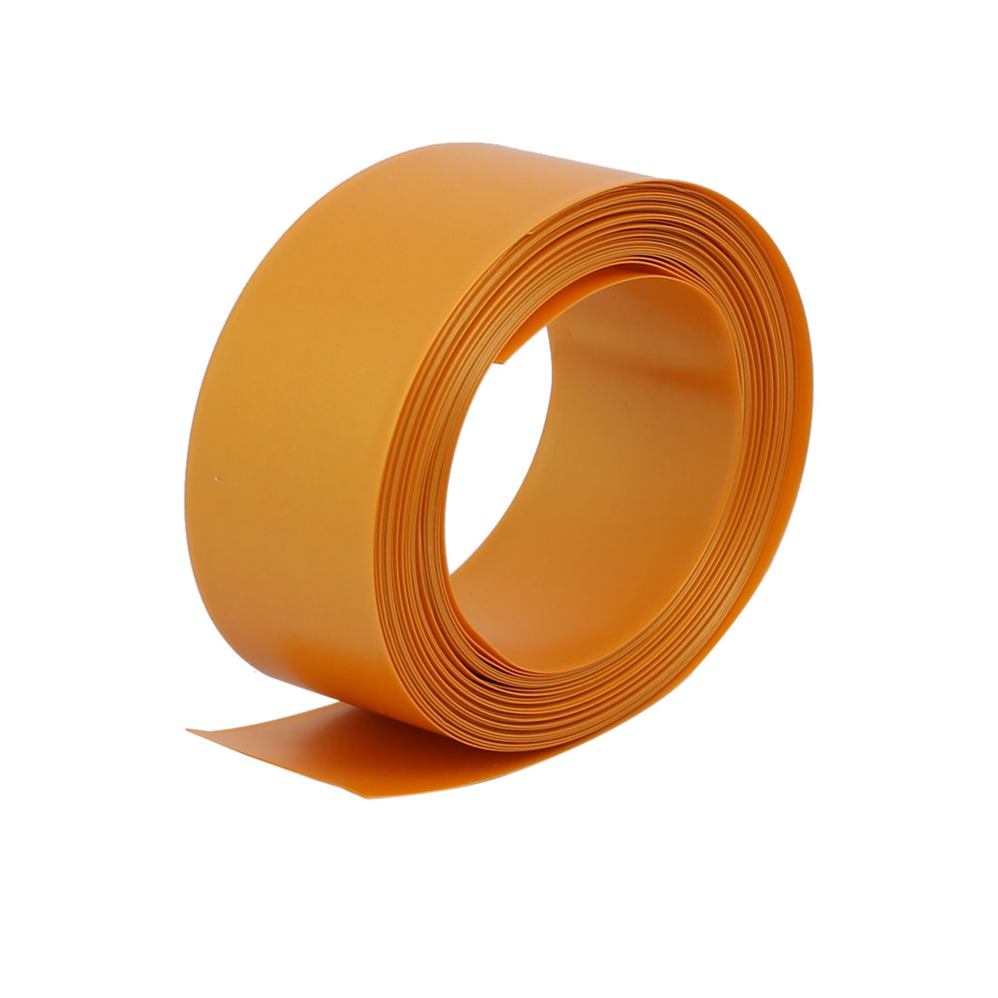 Unique Bargains 29.5mm Flat Width 6M Length PVC Heat Shrinkable Tube Gold Tone for 18650 Battery - image 3 of 3