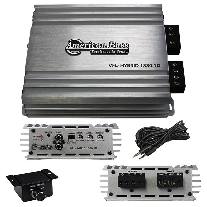 American Bass Class D Mono Hybrid Amplifier 1900W Max