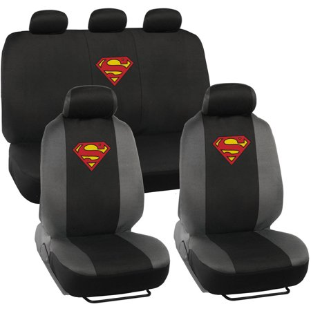 Superman Original Seat Covers For Car And SUV Auto Interior Gift Full Set Warner